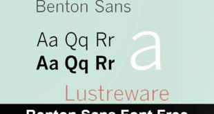 Benton Sans Font Free 310x165 - Benton Sans Font Free Download