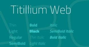 Titillium Web Font Family 310x165 - Titillium Web Font Family Free Download