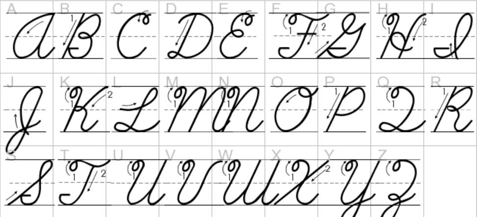 ABC Cursive Font