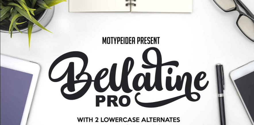 Bellatine Pro Script Font
