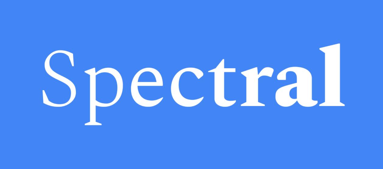 Spectral Font Family