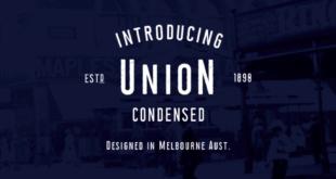 Union Condensed Font 310x165 - Union Condensed Font Family Free Download