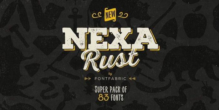 nexa font - Nexa Rust Font Free Download