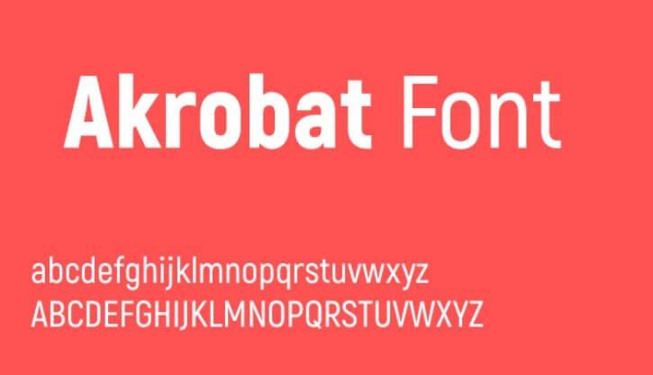 Akrobat Font