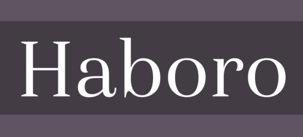 Haboro Sans Font