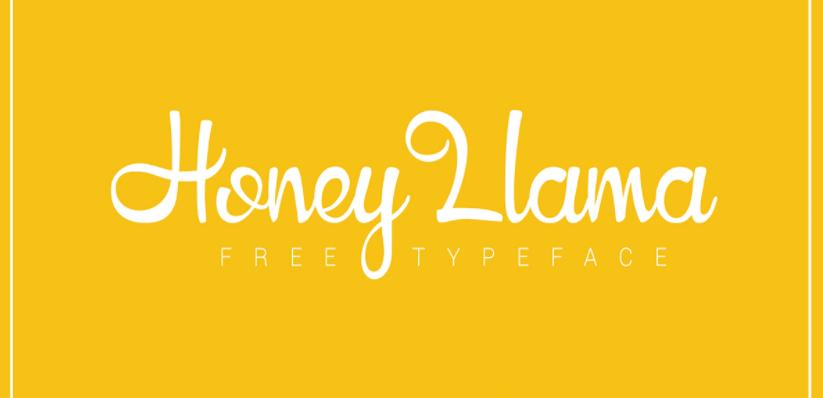 Honey Llama Font