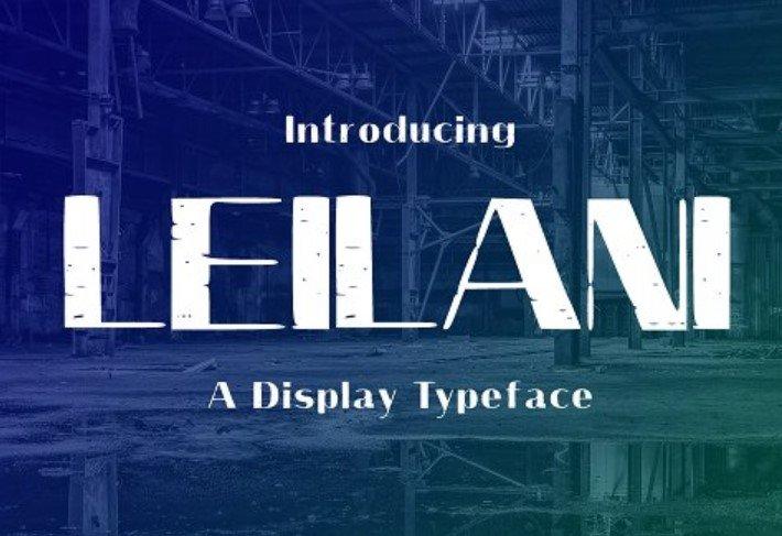 Leilani Typeface Font