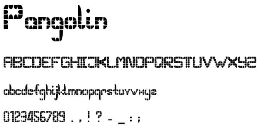Pangolin Font