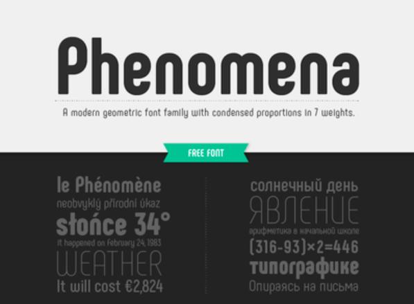 Phenomena Font