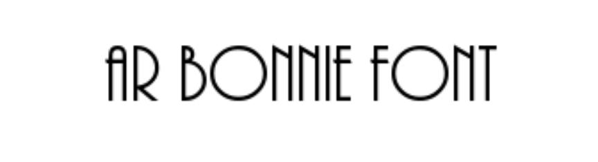 AR BONNIE FONT
