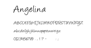 Angelina Font 310x165 - Angelina Font Free Download