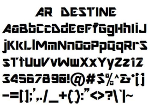 Ar Destine Font
