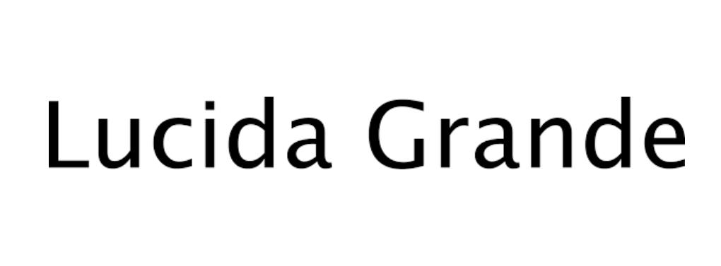 Lucida Grande Bold Font