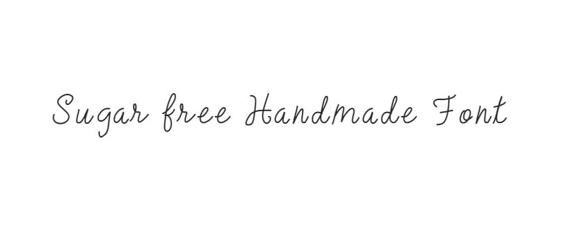 Sugar Free Handmade Font