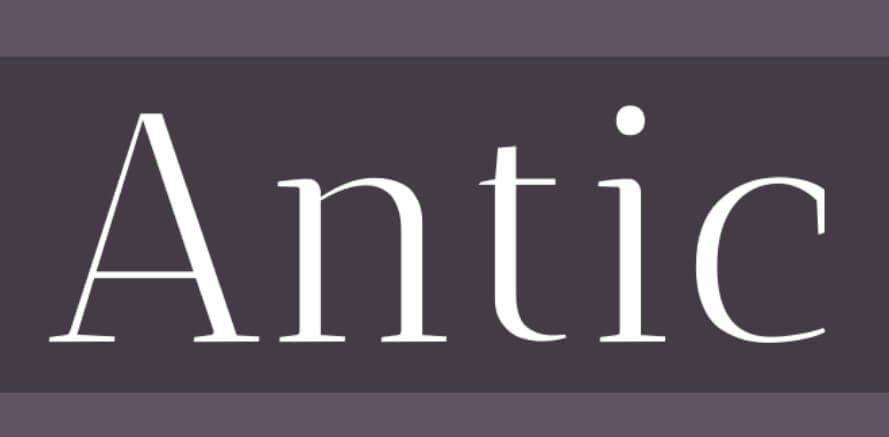 Antic Font