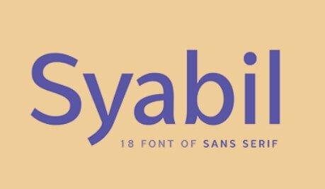 Syabil Font
