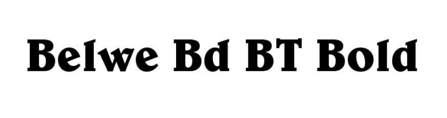 Belwe Bd Bt Bold Font