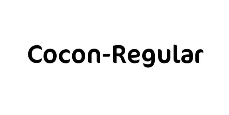 Cocon Regular Font