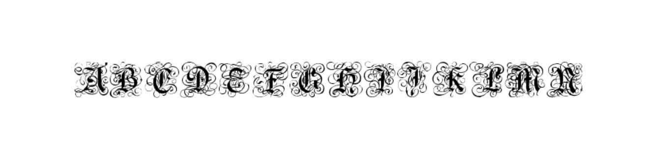 Gothic Flourish Font