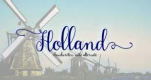 Holland Script Font 310x165 - Holland Handwriting Font Free Download