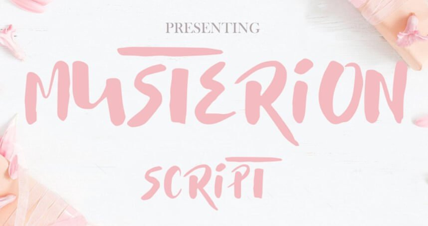 Musterion Brush Font