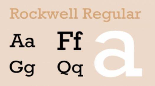 Rockwell Regular Font