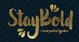 Stay Bold Typeface 310x165 - Stay Bold Typeface Free Download