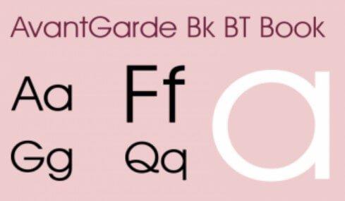 Avantgarde Bk Bt Book Font