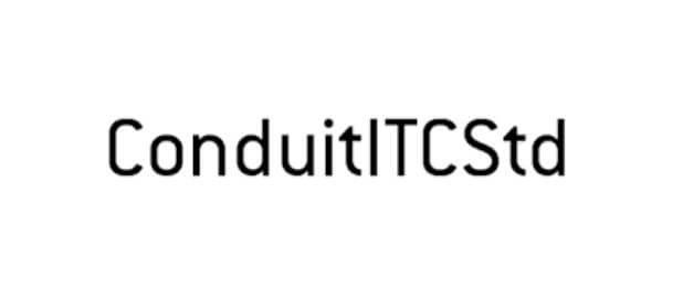 Conduit ITC Std Font