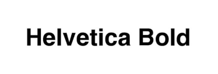 Helvetica Bold Font