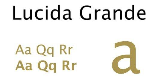 Lucida Grande Regular Font