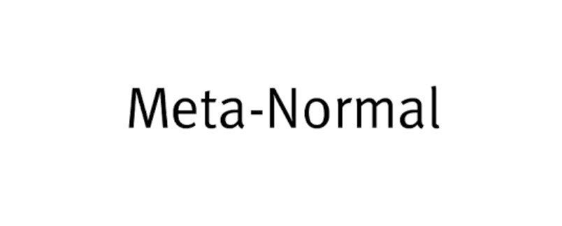 Meta Normal Font