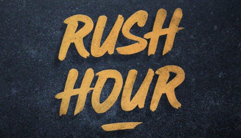 Rush Hour Brush Font