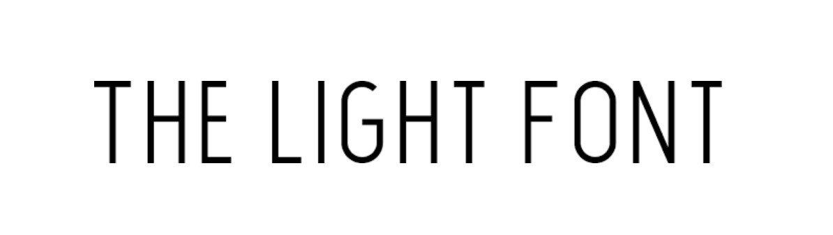 The Light Font