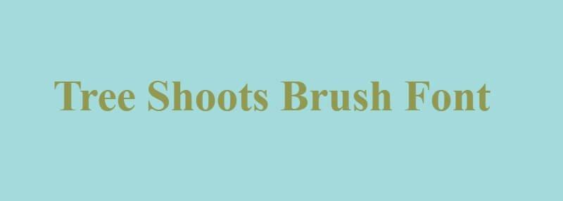 Tree Shoots Brush Font