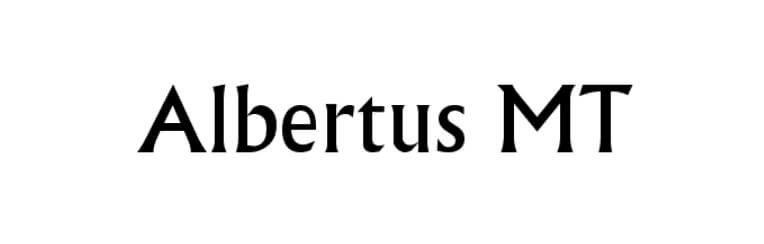 Albertus MT Font