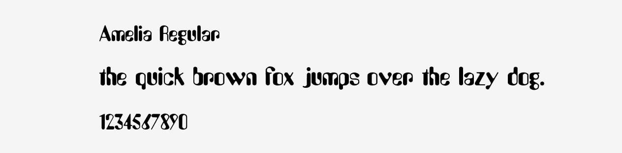 Amelia Regular Font