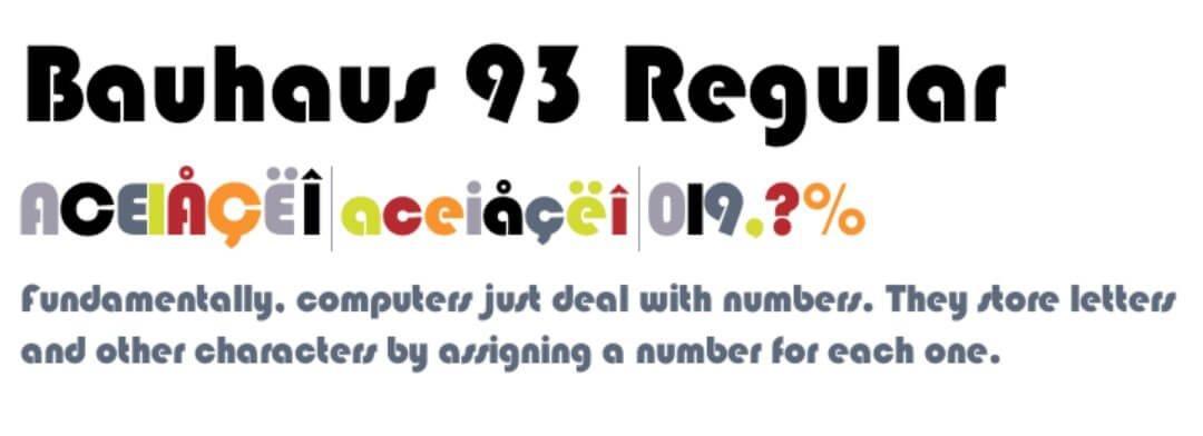 Bauhaus 93 Regular Font