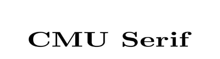 CMU Serif Font