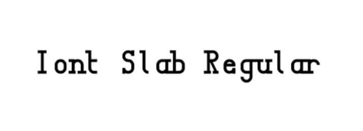 Iont Slab Regular Font