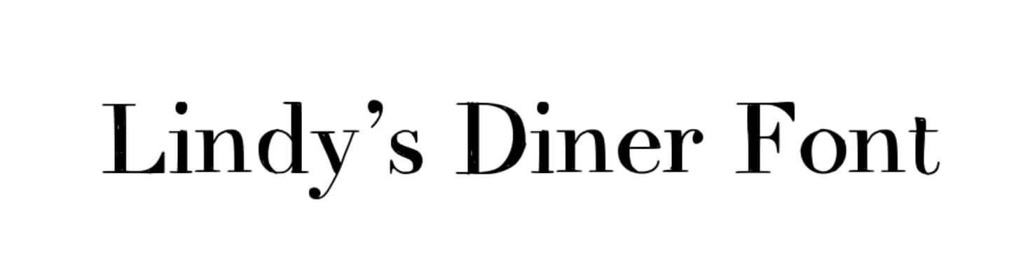 Lindys Diner Font