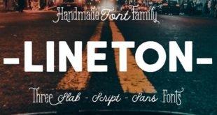 Lineton Font 310x165 - Lineton Font Family Free Download