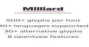 Milliard Font 310x165 - Milliard Font Family Free Download