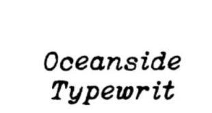 Oceanside Typewriter Regular Font 310x165 - Oceanside Typewriter Regular Font Free Download