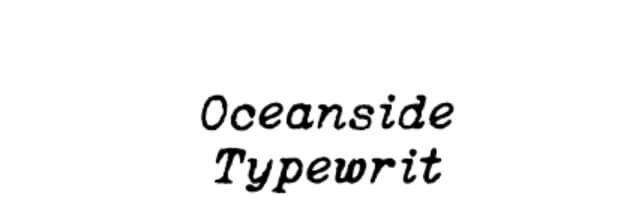 Oceanside Typewriter Regular Font