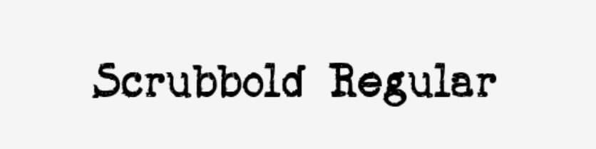 Scrubbold Regular Font