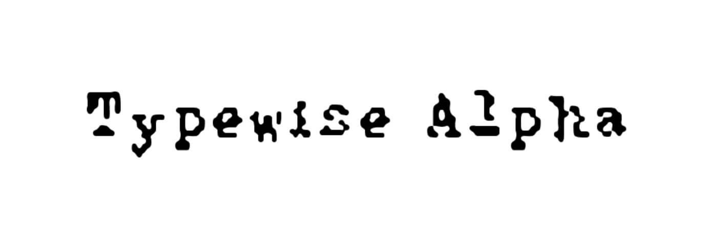 Typewise Alpha Normal Font