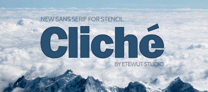 Cliche Sans Serif Font