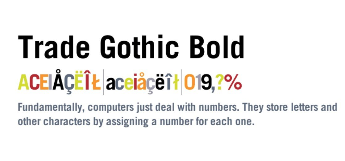 Trade Gothic Bold Font