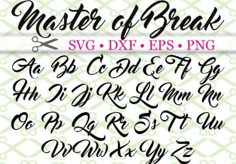 Master of Break Font - Master of Break Font Free Download
